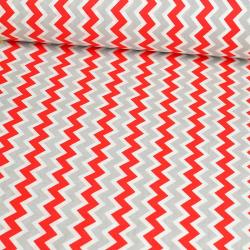 Zygzak czerwono szary wz329