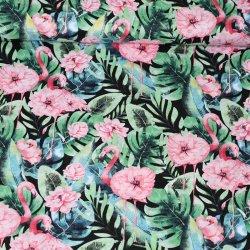 Rajskie flamingi w kwiatach...