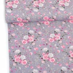 Bukiety z róż szare tło wz960