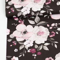 Storczyki kwiaty czarne tło...